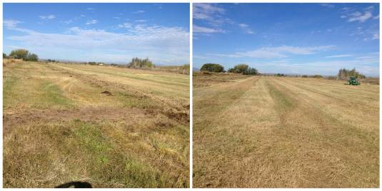 Before and After Grass Mowing - Field Mowing Idaho Falls